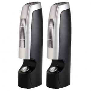 2 Pcs Mini Ionic Whisper Home Air Purifier - Costway