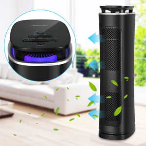 Air Purifier With True Hepa Filter, Air Purifier Odor Allergies Eliminator For Home, Smokers, Smoke, Dust, Mold And Pets, Air Cleaner With Night Light - Sancusto