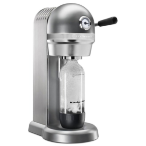Kitchenaid Kss3121cu Sparkling Beverage Maker Powered By Soda Stream® W/ Starter Pack, Silver