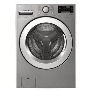 Lg Electronics 4.5 Cu.ft. Ultra Large Capacity Front Load Washer With Steam And Wi-fi Connectivity In Graphite Steel