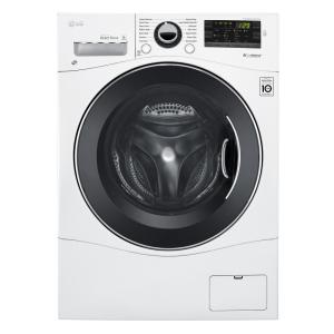 Lg Wm1388hw Front Load Washer & Dlec888w Dryer W/stacking Kit